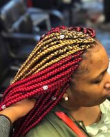 BRAID for caucasiene hair, TRESSES AFRICAINE 819-968-9427
