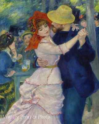 Dance at Bougival - Auguste Renoir - Red Bonnet Suzanne Valadon 8x10 Print -