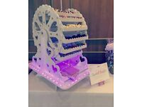 Candy Ferris Wheel, 16 choices of sweets, £150 to hire #Weddings #Partys #Christenings #Ferriswheel