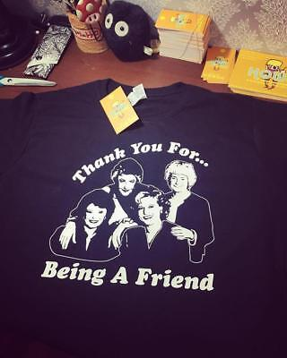 Golden Girls Thank you for being a friend Inspired black Tshirt 80s TV Comedy