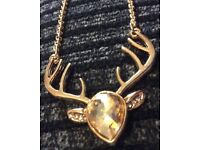 BRAND NEW Reindeer Necklace with A Gift Bag £5 Each
