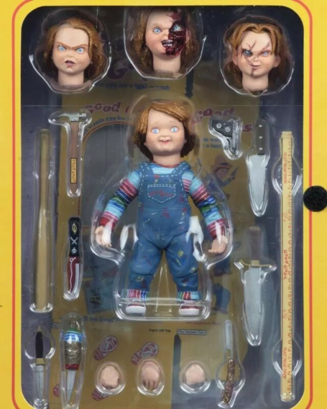 "Hot New NECA 4/"" Ultimate Chucky Doll Child/'s Play Good Guys Action Figure PVC"