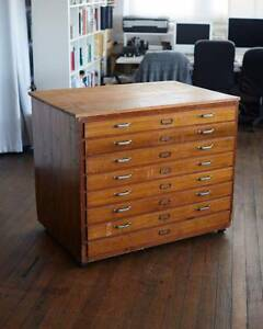 Vintage Wooden Plan Drawers Surry Hills Inner Sydney Preview