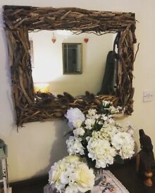 Handcrafted Driftwood Mirror