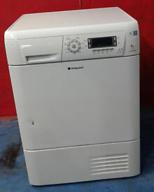 I548 white hotpoint 8kg condenser dryer comes with warranty can be delivered or collected
