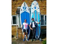 2 x inflatable SUP Packages (with everything) for sale (together). Bought them in April.