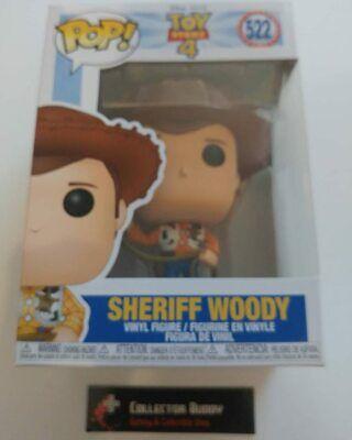 Funko Pop! Disney 522 Toy Story 4 Sheriff Woody Pixar Pop Vinyl Figure FU37383