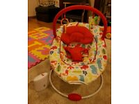 Red Kite - Cozy Bounce - Vibrating Bouncer - With Music - Chair, Carnival