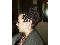 Hair braiding with extensions