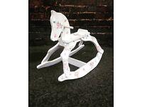Shabby Chic decoupaged wooden Rocking Horse
