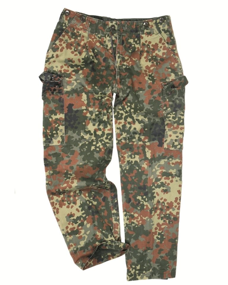 Camo Cargo Army Military Trousers New German Flecktarn Combat Pants