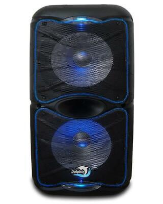 "Dual 12"" Rechargeable High Power karaoke speaker with blueto"