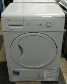a683 white beko 7kg condenser dryer comes with warranty can be delivered or collected
