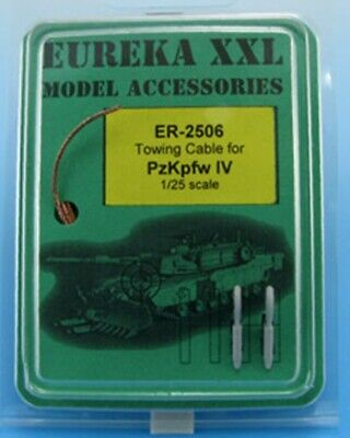 Eureka XXL 1:25 Towing Cable for Pz.Kpfw.IV Tank Resin Metal Accessory #ER-2506 for sale  Shipping to India