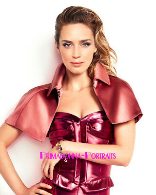 EMILY BLUNT 8X10 Lab Photo 2010s Sexy High Fashion Close-Up Actress Portrait