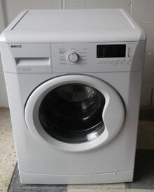 D714 white beko 7kg 1500 spin washing machine comes with warranty can be delivered or collected