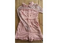 Pixie little thing pink playsuit