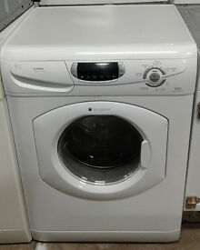 p068 white hotpoint 5kg&5kg 1600spin washer dryer comes with warranty can be delivered or collected