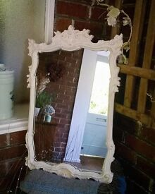 Hand Painted Antique Wall Mirror