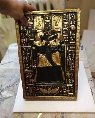 Relief Thoth Götter Ägypen Flachrelief Ägyptische Stuck gips Wandrelief Bilder