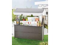 Gardenline Rattan Garden Bar   Outdoor Home Patio Drinks Bar BRAND NEW