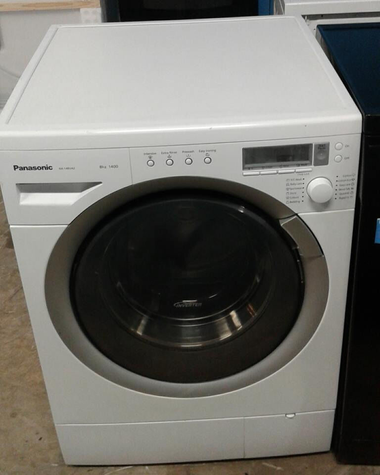 AA531 white panasonic 8kg 1400spin washing machine comes with warranty can be delivered or collected