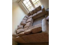 NEW U-SHAPE CHINELLE FABRIC 8 SEATER CORNER SOFA NOW IN STOCK
