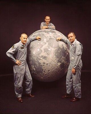 Apollo 11 Astronauts Neil Armstrong, Mike Collins, Buzz Aldrin NASA Large Photo