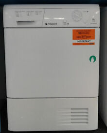 R083 white hotpoint 8kg condenser dryer comes with warranty can be delivered or collected