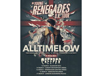 All Time Low - Alexandra Palace London Saturday 17 Mar 2018 - Concert 3 Tickets