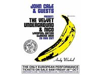 John Cale and Guests, 2 x face value tickets for sold out Liverpool waterfront show