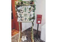 Wedding seating plan or rustic notice board