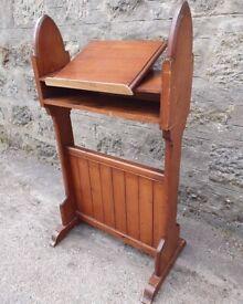 Pitch Pine Antique Lectern Reception Desk,