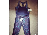 KARINA HIGH SUPPORT SPORTS BRA SIZE 12-14 AND MATCHING LEGGINGS 10-12 Can Post