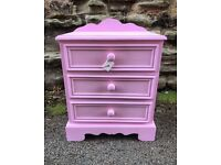 Children's hand painted Bedside table drawers