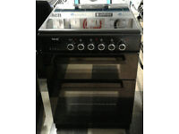 a203 black teknix 60cm double oven ceramic hob electric cooker comes with warranty can be delivered