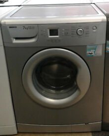 w599 silver beko 7kg 1400spin A+A washing machine comes with warranty can be delivered or collected