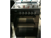 e203 black teknix 60cm double oven ceramic hob electric cooker comes with warranty can be delivered