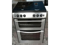 E441 stainless steel new world 60cm double oven gas cooker comes with warranty can be delivered