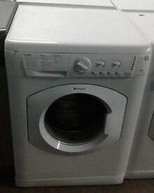 B827 white hotpoint 6kg 1400spin washing machine comes with warranty can be delivered or collected