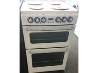 g738 white newworld 55cm solid ring electric cooker come with warranty can be delivered or collected