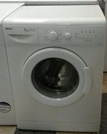 b236 white beko 5kg 1200 spin washing machine comes with warranty can be delivered or collected