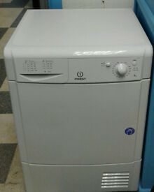 d287 white indesit 8kg condenser dryer comes with warranty can be delivered or collected