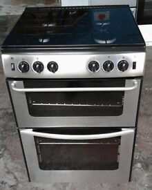c441 stainless steel new world 60cm double oven gas cooker comes with warranty can be delivered