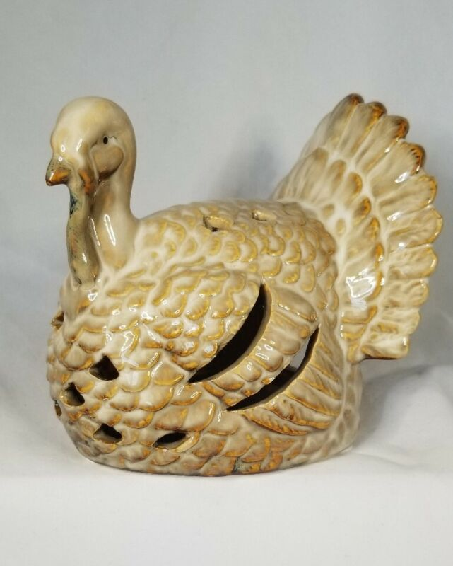 Tii Collections Turkey Thanksgiving Tealight Candle Holder Tabletop NEW