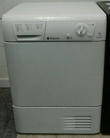 022 white hotpoint 7kg condenser dryer comes with warranty can be delivered or collected