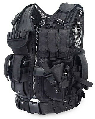 Tactical Vest Swat Special Forces Combat Training Outdoor Airsoft Paintball Gear
