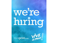 Digital Print Assistant with Graphic Design Experience (Full-Time)
