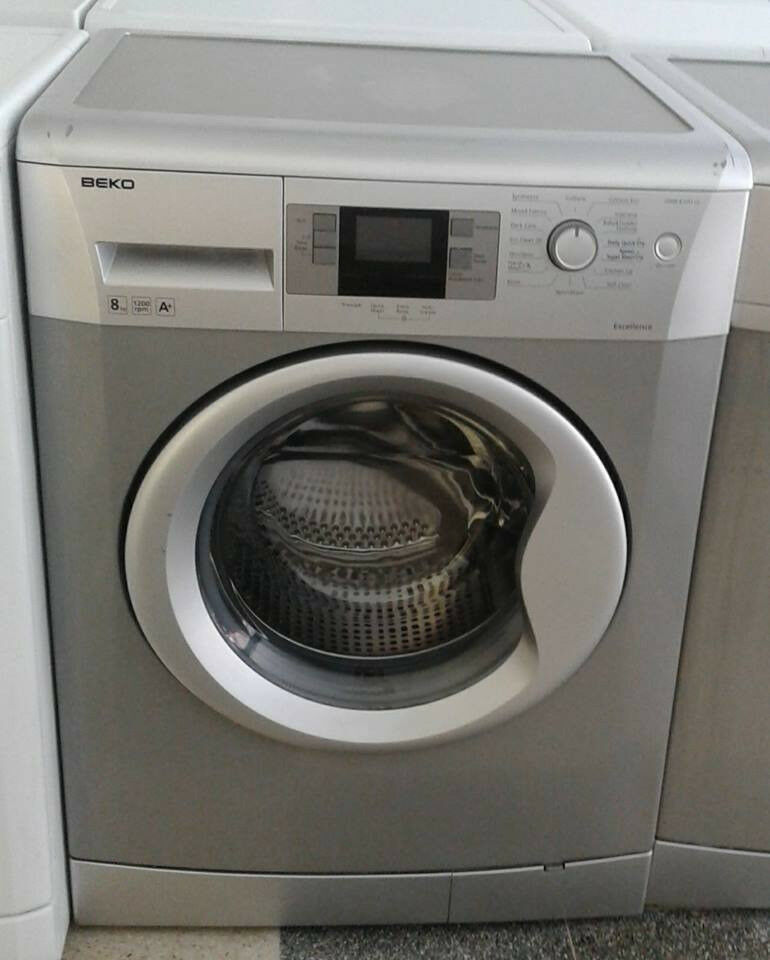b705 silver beko 8kg 1200spin A+ washing machine comes with warranty can be delivered or collected