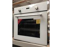 60cm Built in Multifuncional Single Oven- White